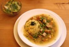 Kombu-Daschi-Suppe mit Hirse